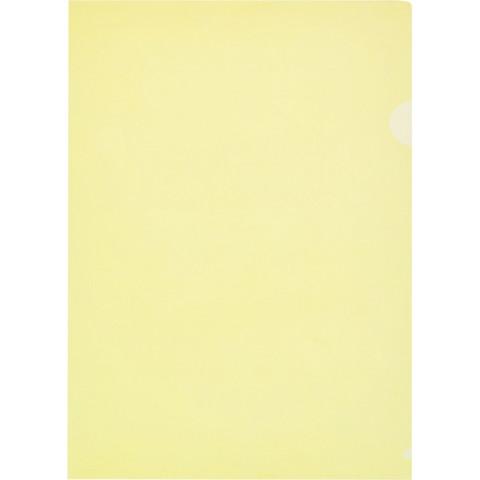 Папка-уголок Attache Economy A4 желтая 100 мкм (10 штук в упаковке)