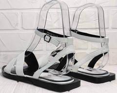 Летние сандали босоножки женские кожаные Brocoli H1886-9165-S873 White.