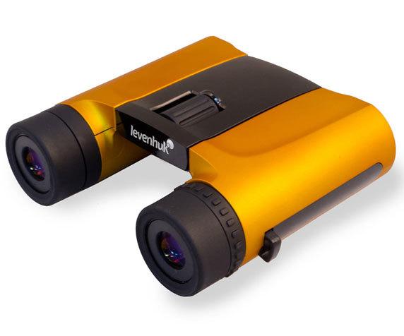 Корпус бинокля Rainbow 8x 25 с обрезиненным покрытием оранжевого цвета