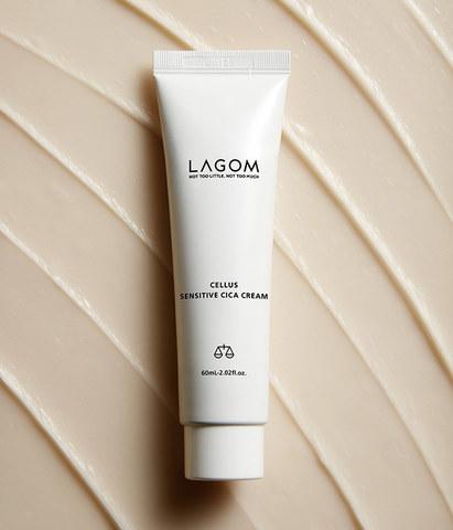 Крем с центеллой для чувствительной/раздражённой кожи, 60 мл / Lagom Cellus Sensitive Cica Cream