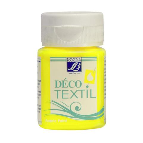 Краска по ткани Lefranc&Bourgeois DECO TEXTIL 50 мл 163, желтый неон