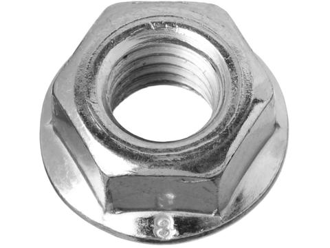 Гайка DIN 6923 с фланцем, M8, 6 шт, кл. пр. 6, оцинкованная, ЗУБР
