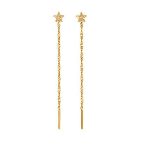 020600 - Серьги-подвески из золота со звёздами