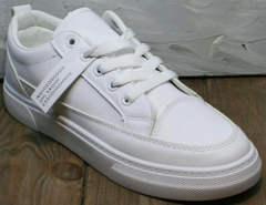 Женские кеды кроссовки кожаные El Passo 820 All White.