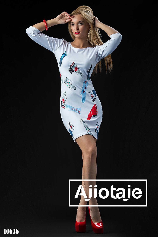 Платье с ярким стильным принтом