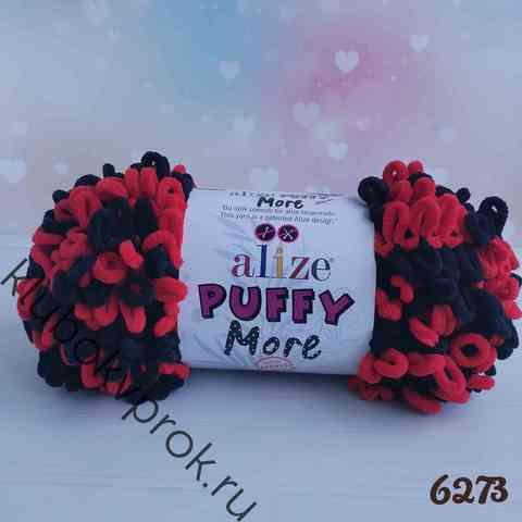 ALIZE PUFFY MORE 6273, Красный черный