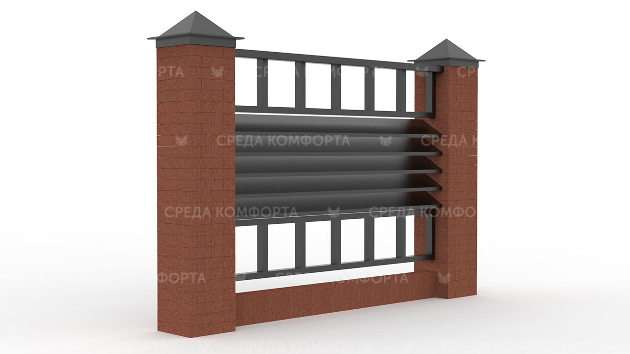 Забор жалюзи ZBR0136