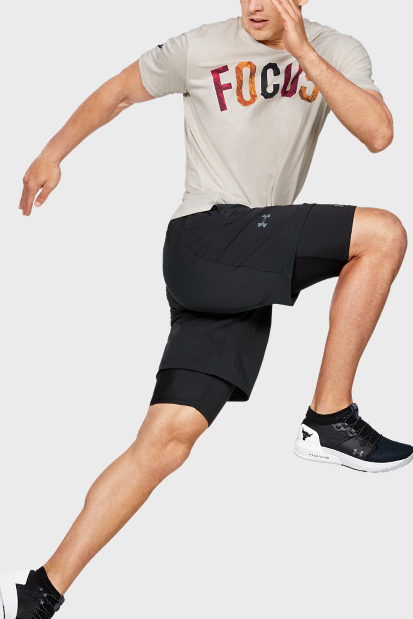 Мужская бежевая футболка Project Rock FOCUS Under Armour