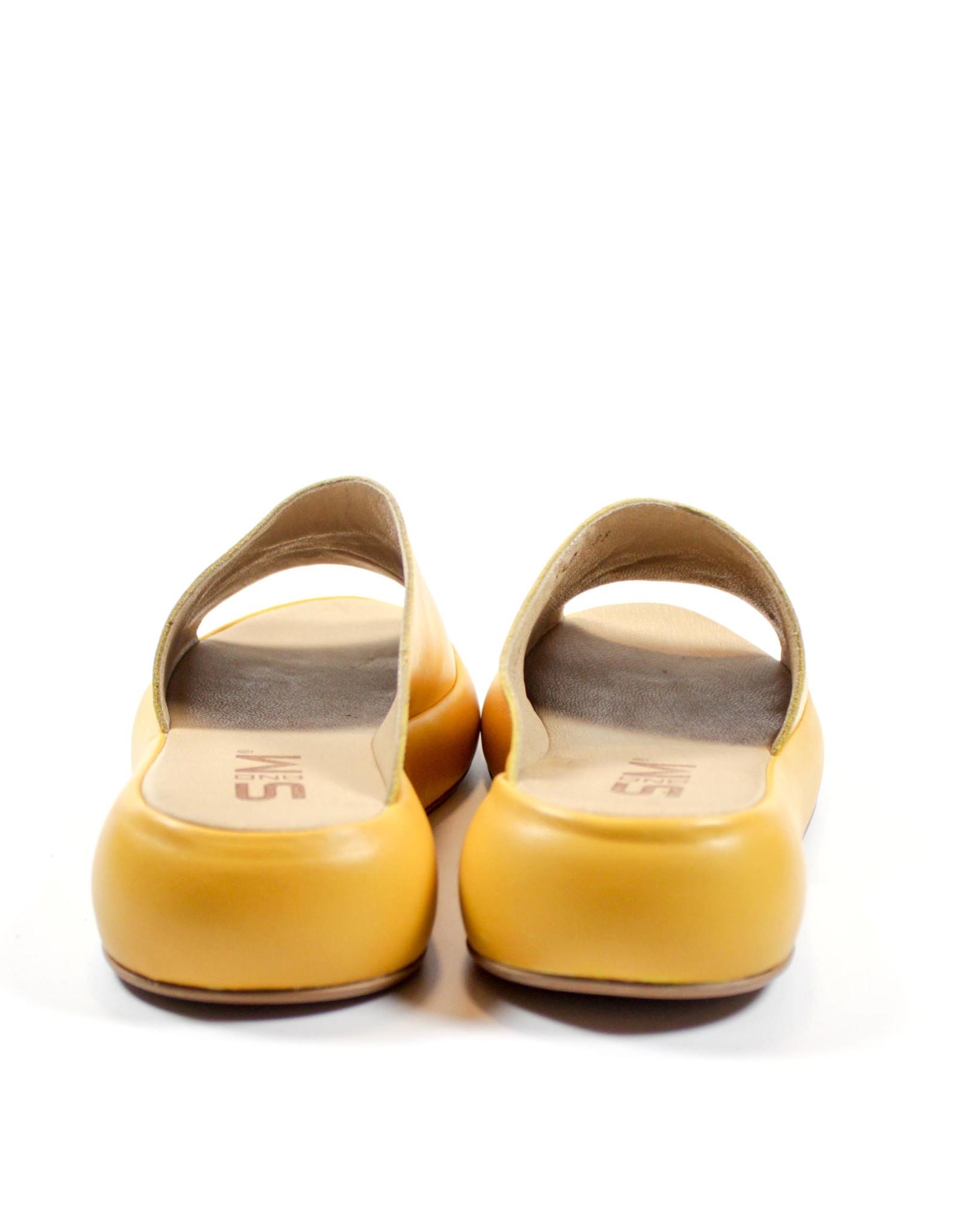 желтые сабо SM