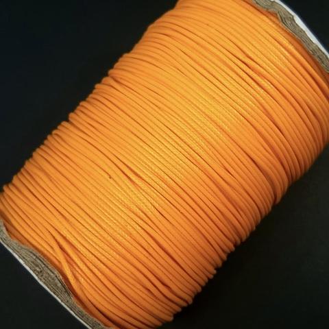 Шнур нейлон вощеный 1.0 мм цвет желто-оранжевый 10 метров