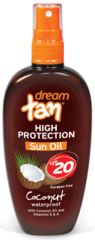 Масло для загара SPF 20 с каротином Dream Tan 150 мл