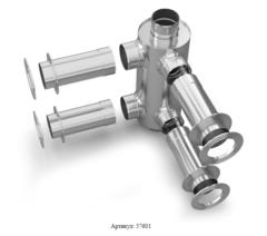 Отопитель натрубный-2 TMF Ø115, 1/0,5 мм, 1 м , нерж/нерж