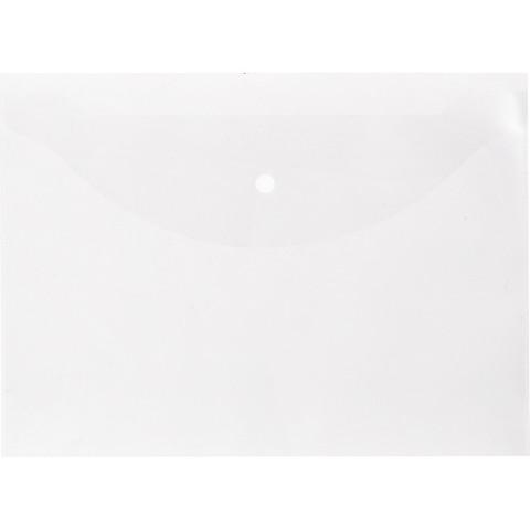 Папка-конверт на кнопке Attache Economy А4 прозрачная 0.1 мм (10 штук в упаковке)
