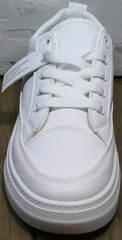 Модные женские кроссовки туфли без каблука El Passo 820 All White.