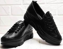 Спортивные туфли кроссовки черные женские Mario Muzi 1350-20 Black.