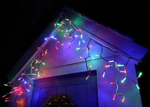 Бахрома 2 метра на 0,5 80 LED разноцветная