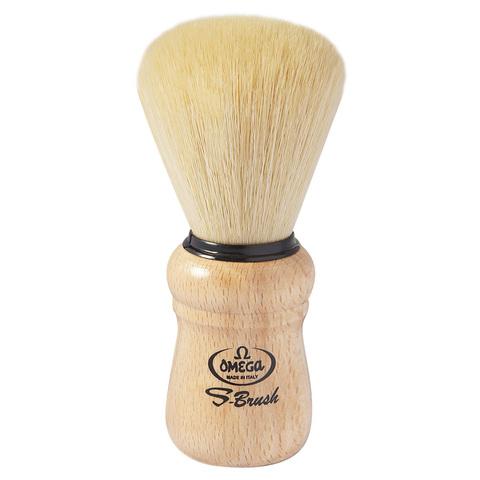 Помазок для бритья Omega синтетика деревянная ручка S10005