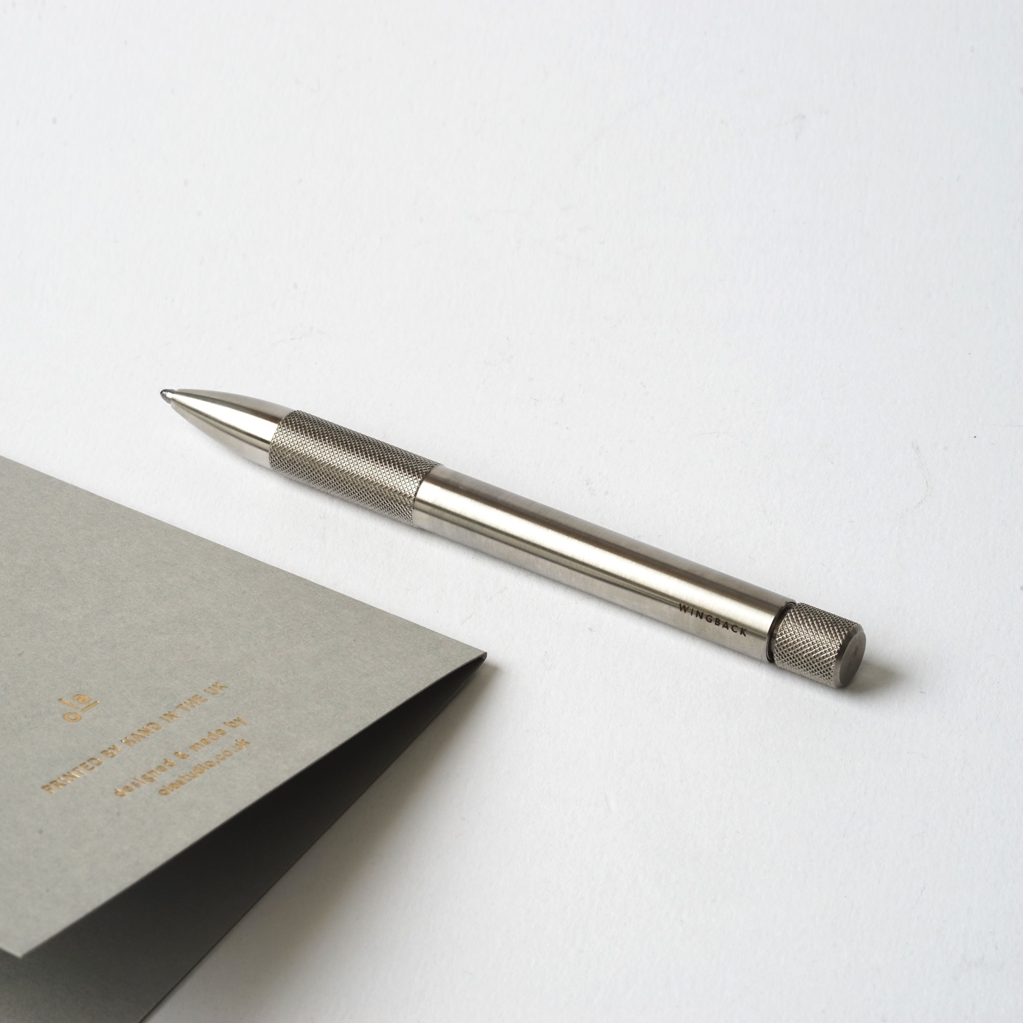 Wingback Компактная ручка Mechanical Pen: сталь