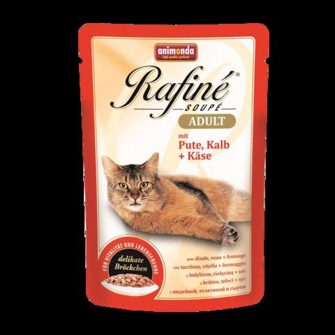 Animonda Rafinе Adult Консервы для кошек с индейкой, телятиной и сыром (пауч)