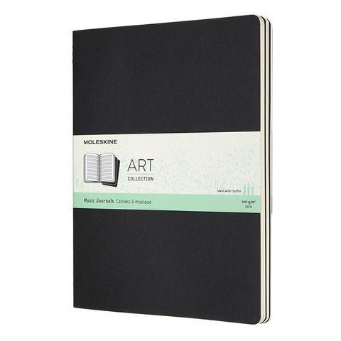 Блокнот для нот Moleskine ART CAHIER MUSIC ARTMUS4 XLarge 190х250мм обложка картон 80 стр мягкая обложка черный (3шт)