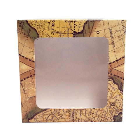 Подарочная коробка 14x14x5 см с окошком