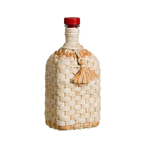 Бутылка стеклянная 1,2 л. «Штоф», оплетенная листьями кукурузы