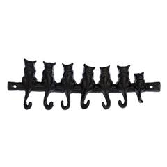 Вешалка чугунная 7 крючков «Котята»