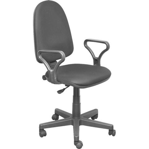 Кресло офисное Prestige серое (ткань/пластик)