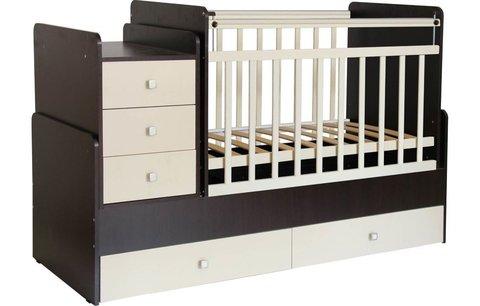 Кровать детская Фея 1100 венге-бежевый