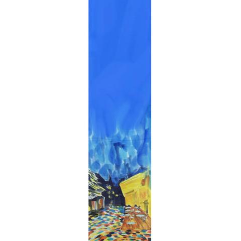 Шелковый шарф батик Кафе Ван Гог С-57
