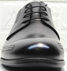 Модные мужские туфли со шнуровкой Ikoc 3416-1 Black Leather.