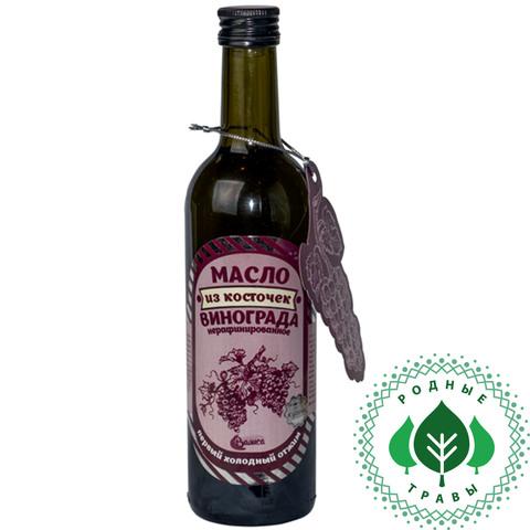 Масло из косточек винограда нерафинированное, первый холодный отжим, 375 мл