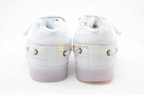 Светящиеся кроссовки с USB зарядкой Бебексия (BEIBEIXIA) для девочек цвет белый. Изображение 7 из 12.