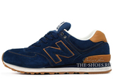 Кроссовки Мужские New Balance 574 Premium Suede Navy Brown