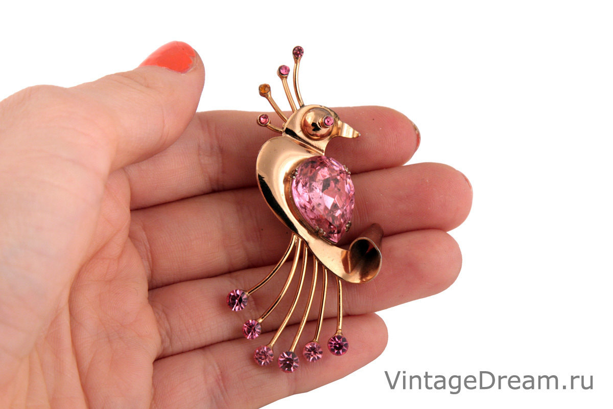 Original silver Bird brooch by Coro
