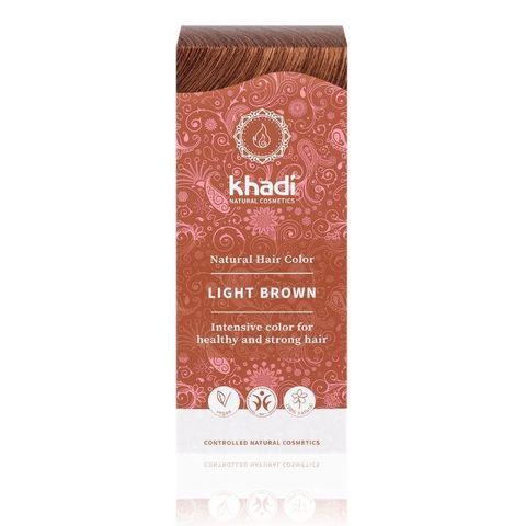 Натуральная краска для волос светло-коричневая Khadi Naturprodukte, 100 гр