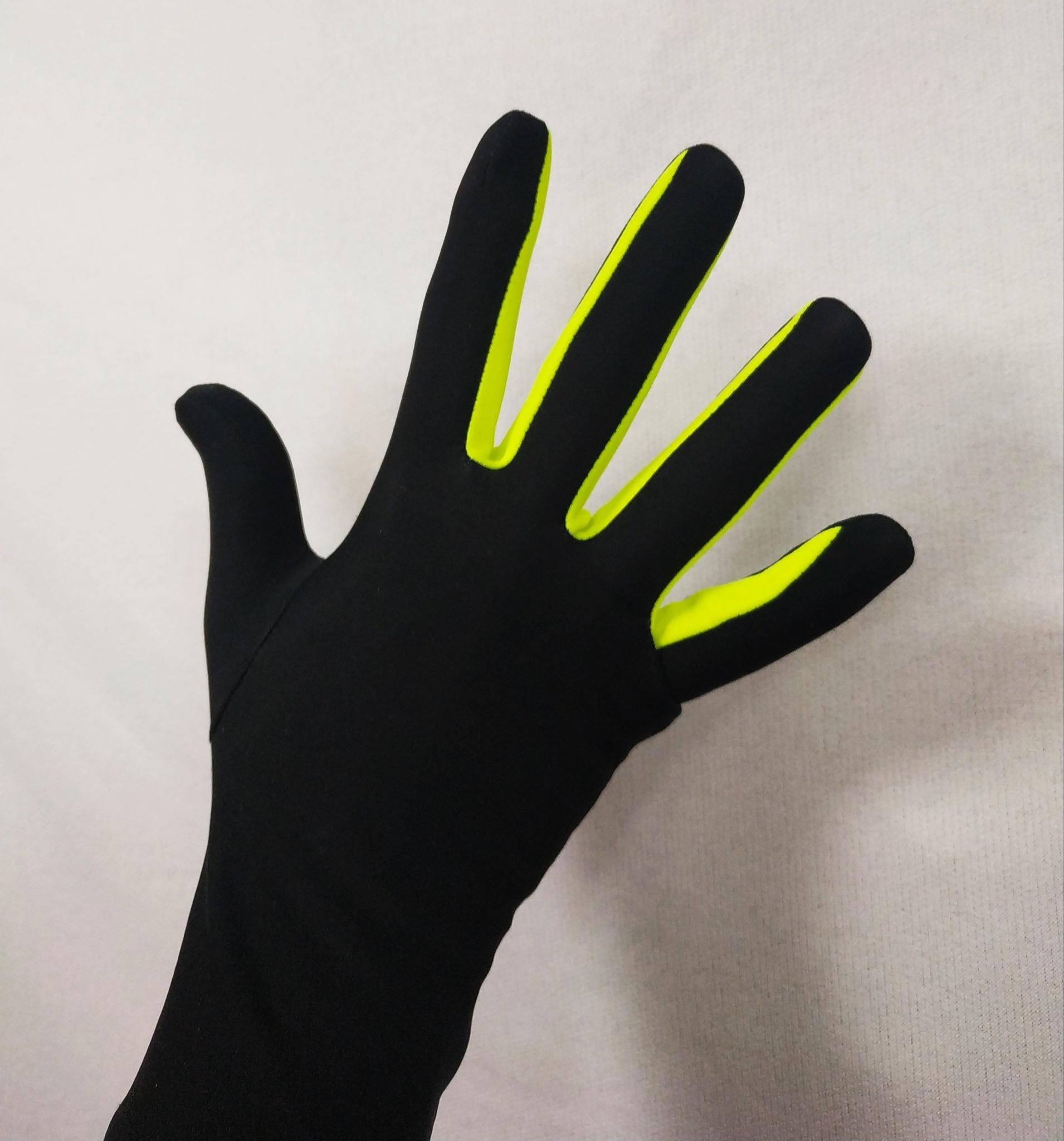 Перчатки из термоткани (с жёлтой вставкой)