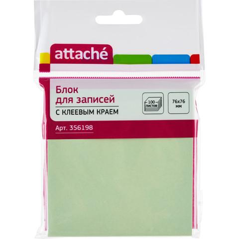 Стикеры Attache 76x76 мм пастельные салатовые (1 блок, 100 листов)