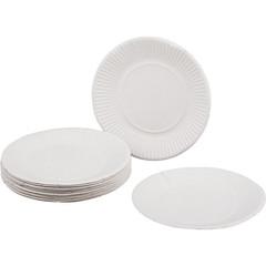 Тарелка одноразовая бумажная белая 170 мм 100 штук в упаковке