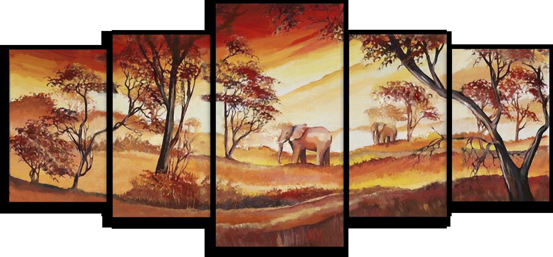 """Модульные картины Модульная картина """"Два слона"""" М71.png"""