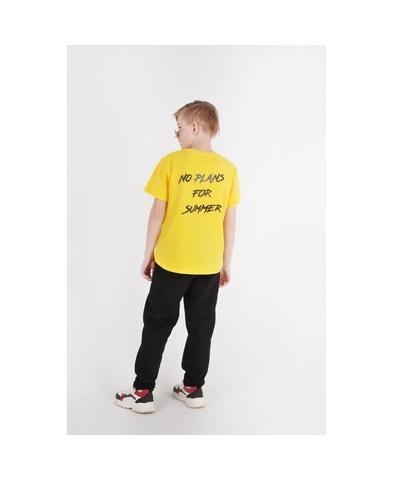 Футболка жёлтая для мальчиков трикотажная