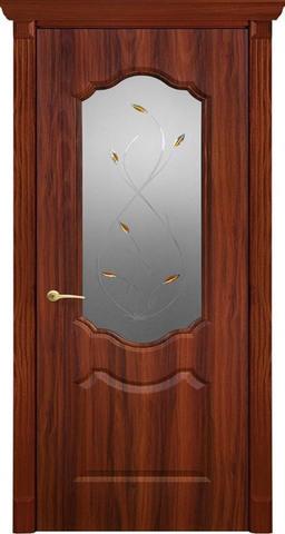 Дверь Канадка Анастасия (итальянский орех, остекленная ПВХ), фабрика AIRON
