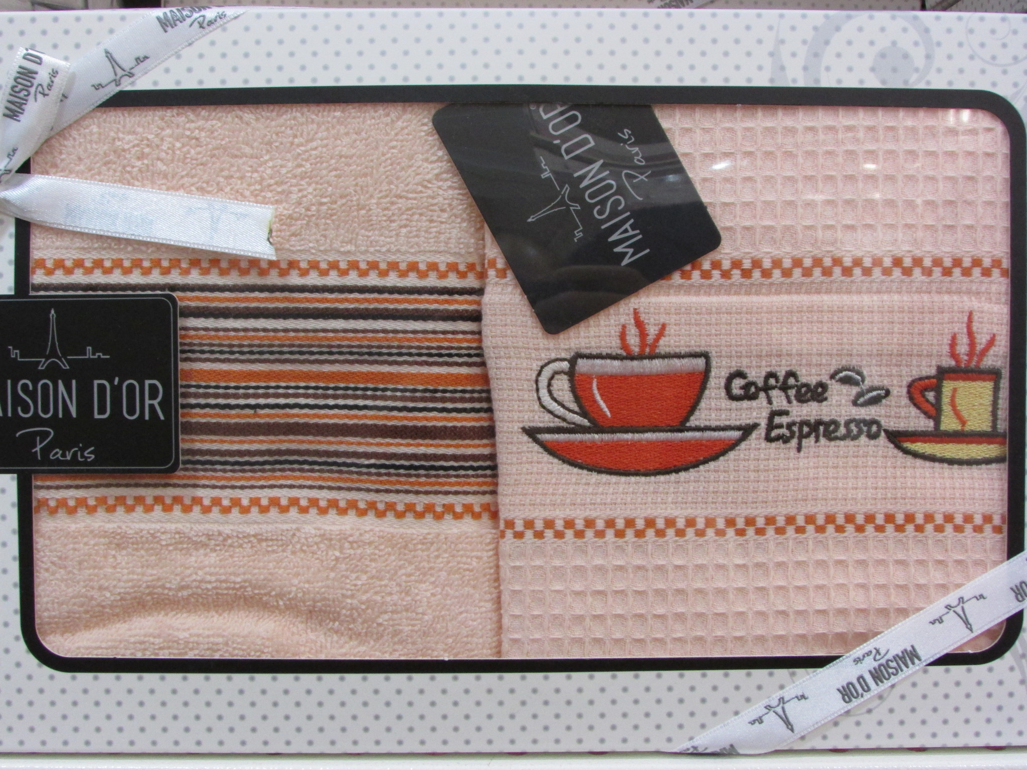 Кухонные полотенца Набор салфеток для кухни TRENDY  ТРЭНДИ  45х70  Maison Dor (Турция) тренди_персик.JPG