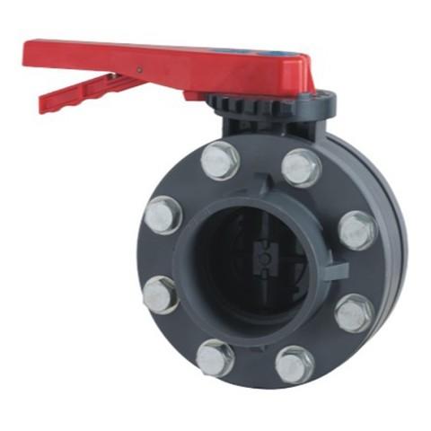 Дроссельная заслонка с комплектом фланцев ПВХ 1,0 МПа диаметр 200 PoolKing