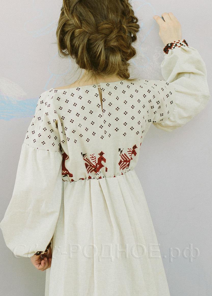 Платье для девочки Сударыня 03 вид сзади