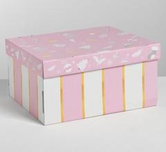 Складная коробка «Нежность», 30 × 24.5 × 15 см, 1 шт.