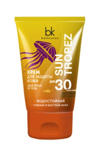 BelKosmex SUN TROPEZ Крем для защиты кожи для лица и тела  SPF 30 120г
