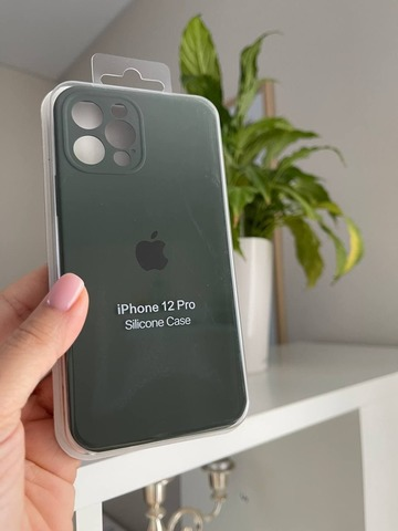 iPhone 12 Pro Max Silicone Case Full Camera /cyprus green/
