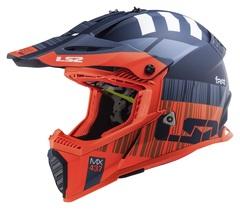 Мотошлем кроссовый LS2 MX437 Fast Evo Xcode, оранжевый