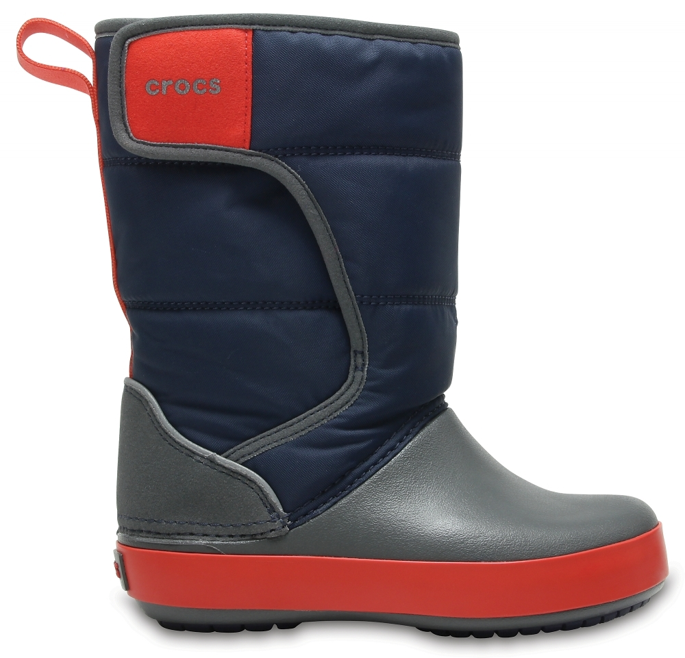 Детские сапоги Crocs Kids' LodgePoint Snow Boot Navy / Slate Grey